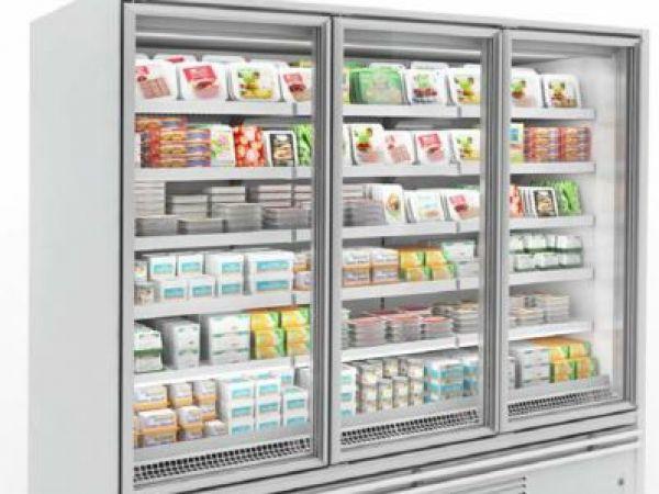 comptoir frigo avec vitres droites 3m. Black Bedroom Furniture Sets. Home Design Ideas